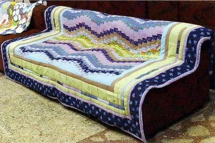 Пэчворк одеяло «Волны»